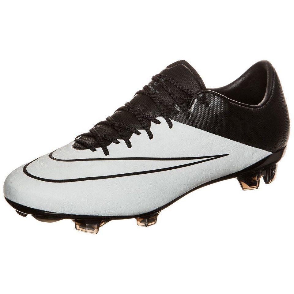 NIKE Mercurial Vapor X Leather FG Fußballschuh Herren in grau / schwarz