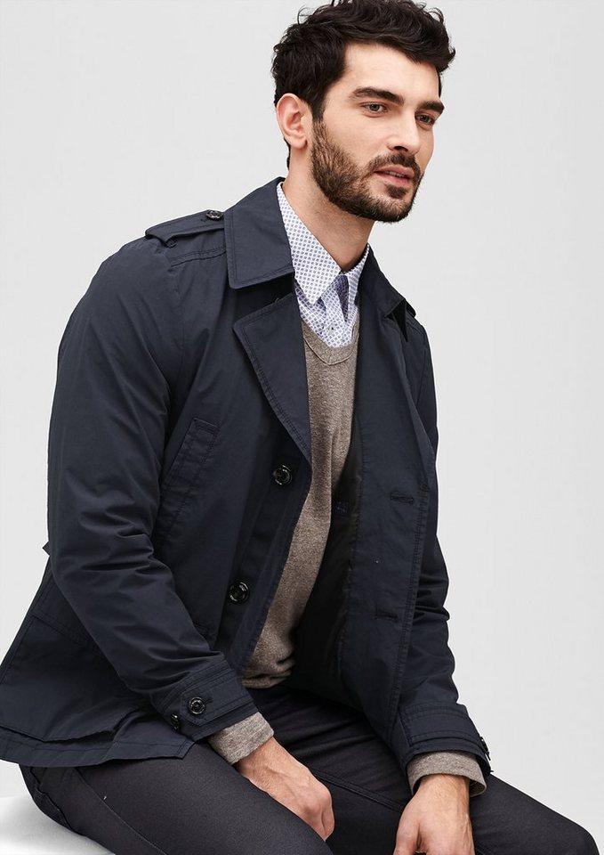 s.Oliver PREMIUM Jacke im Trenchcoat-Stil in navy