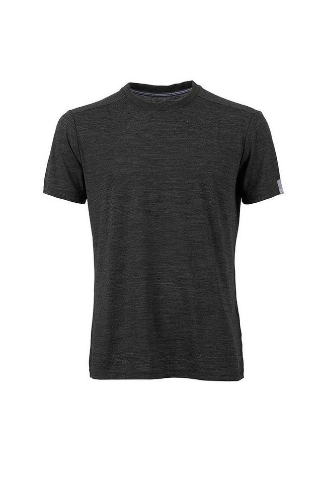 Super.Natural Merino-Shirt »M TEMPO TEE« in CAVIAR MELANGE