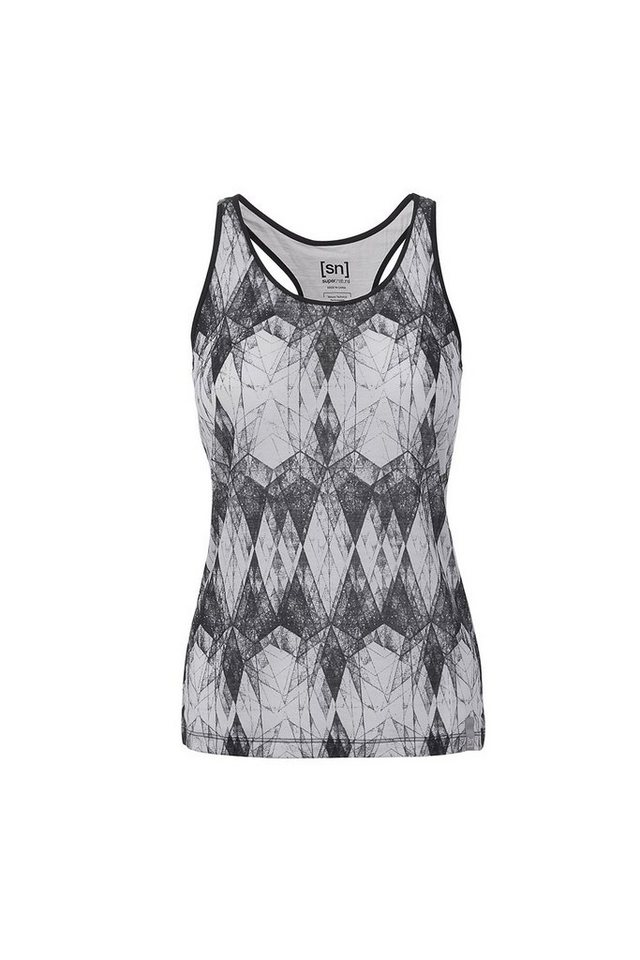 Super.Natural Merino-Top »W VOYAGE RACER TANK« in CRYSTAL GALAXY PRINT