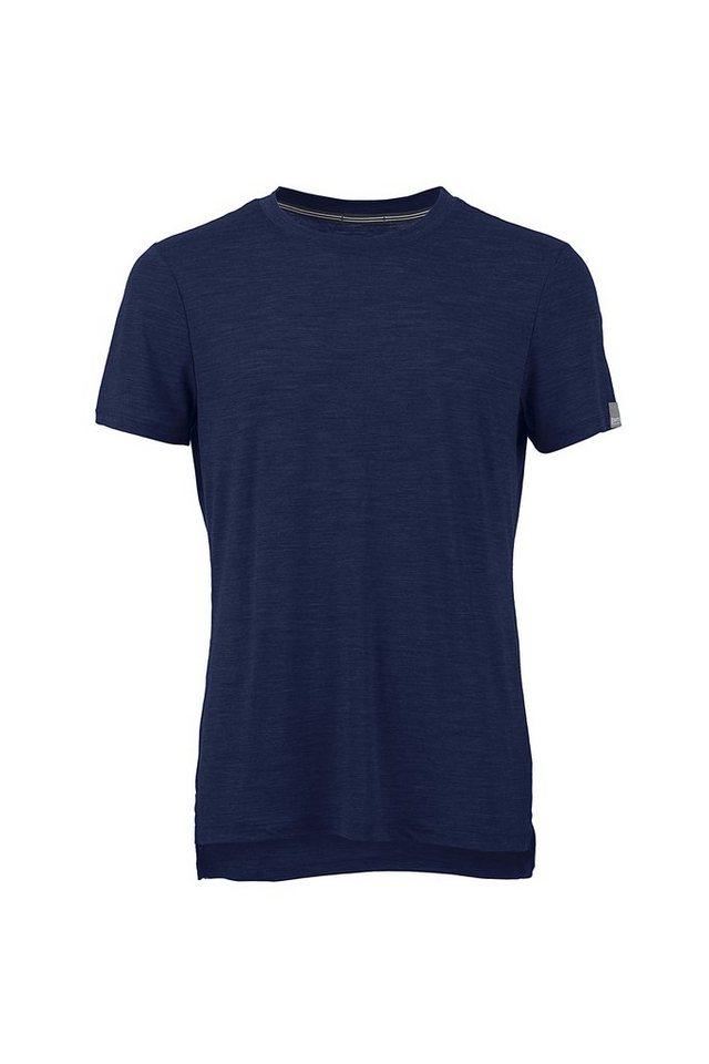 Super.Natural Merino-Shirt »M STUDIO TEE« in NAVY BLAZER MELANGE