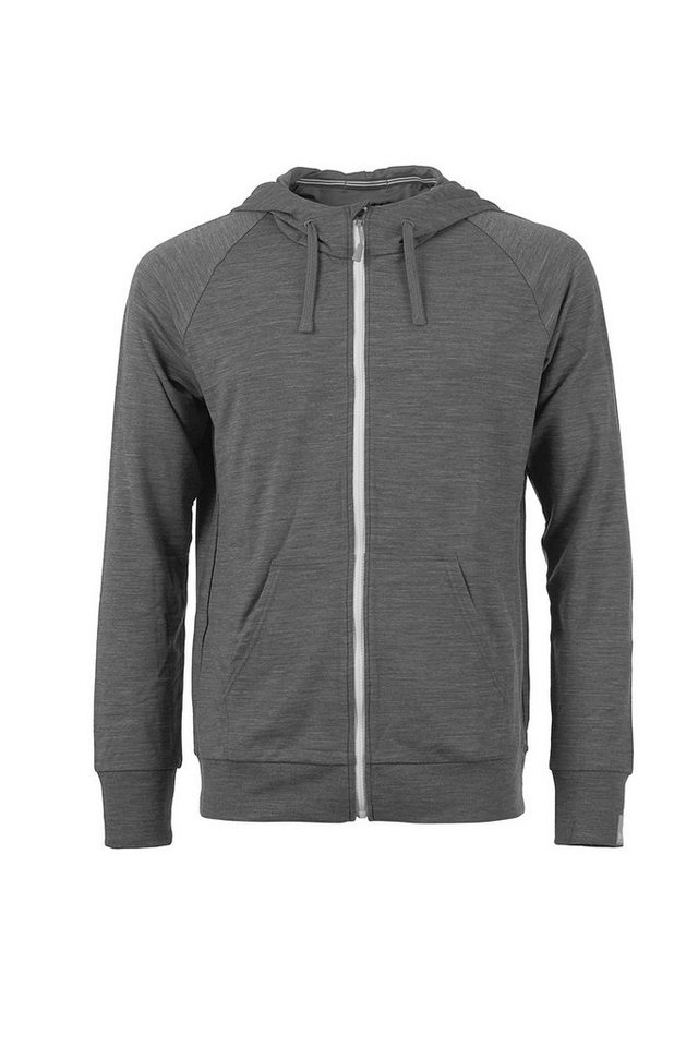 Super.Natural Merino-Hoodie »M TEMPO HOODY« in QUIET SHADE MELANGE