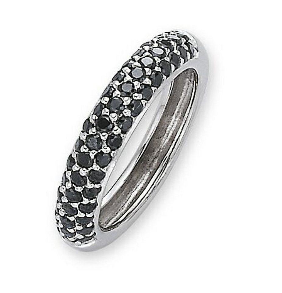 CELESTA Ring »925/- Sterling Silber Zirkonia schwarz« in schwarz