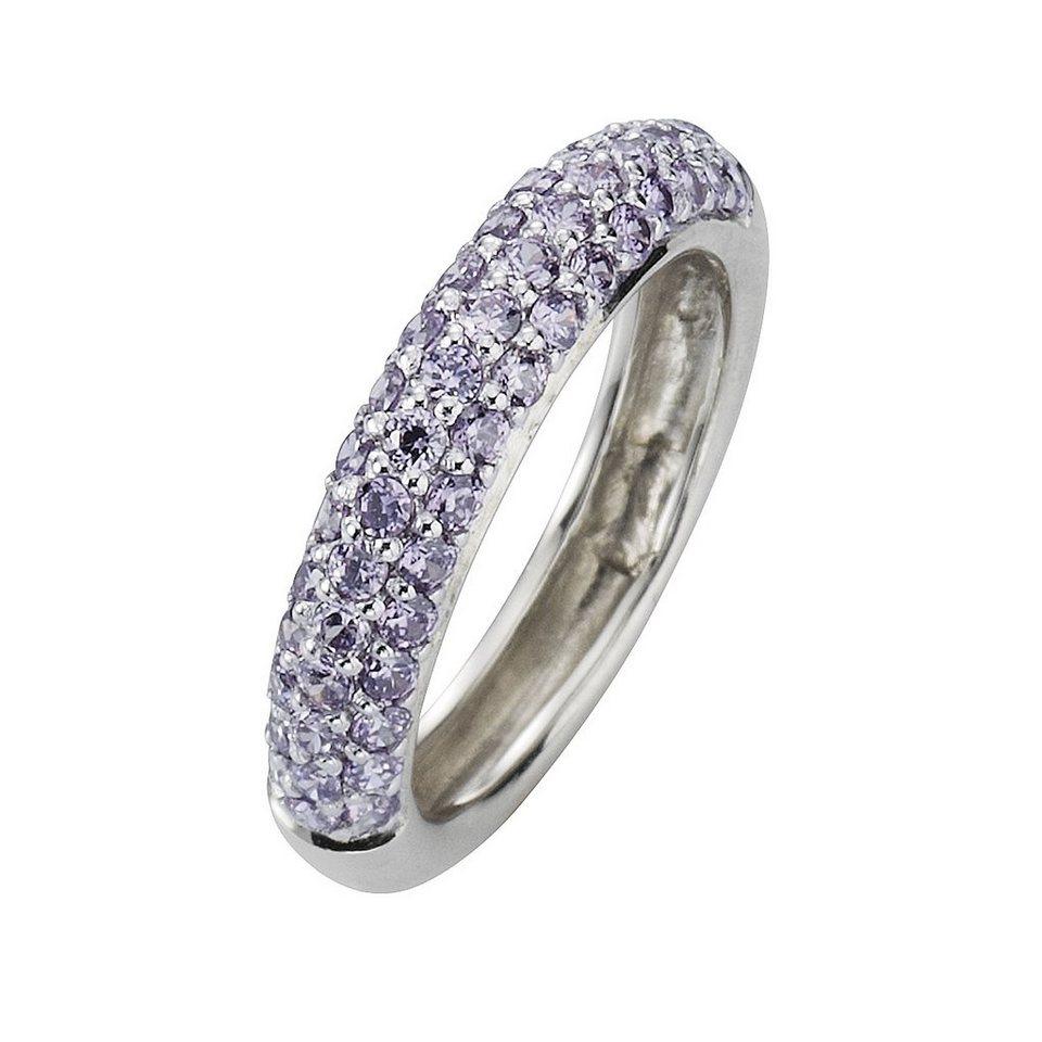 CELESTA Ring »925/- Sterling Silber Zirkonia lila« in lila