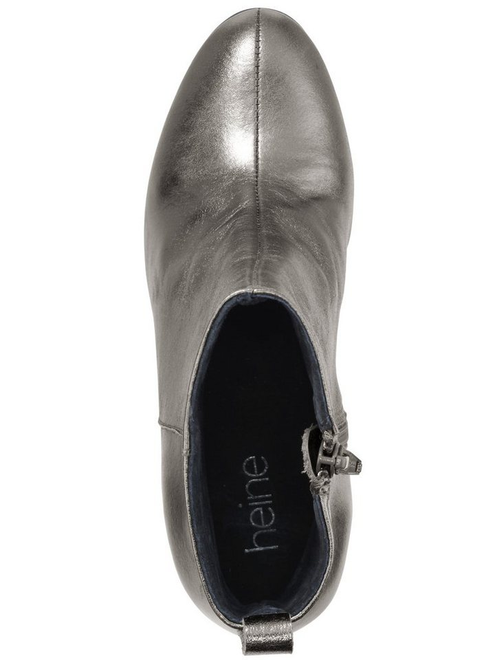 Stiefelette in taupe/metallic
