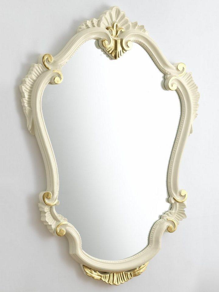 Spiegel in creme/goldfarben