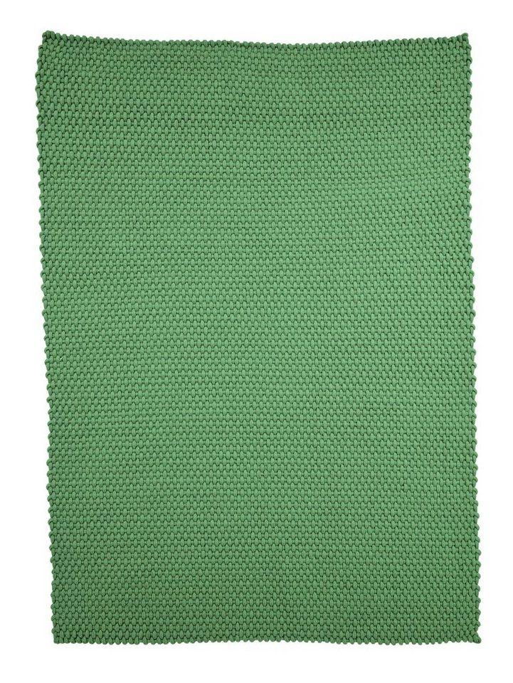 Handwebteppich in grün