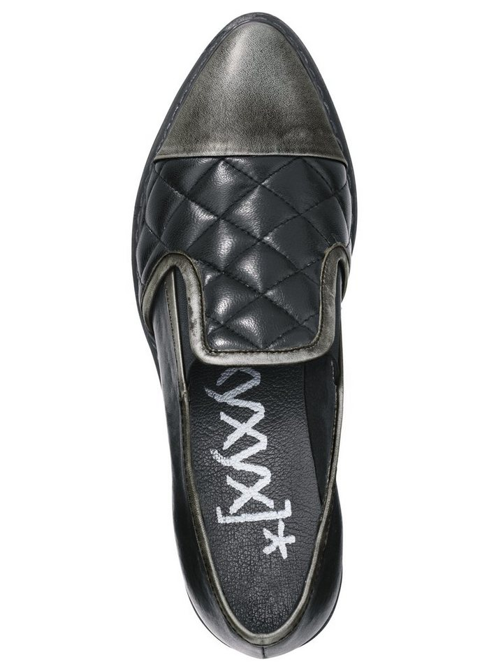 Slipper von XYXYX in schwarz/silberfarben