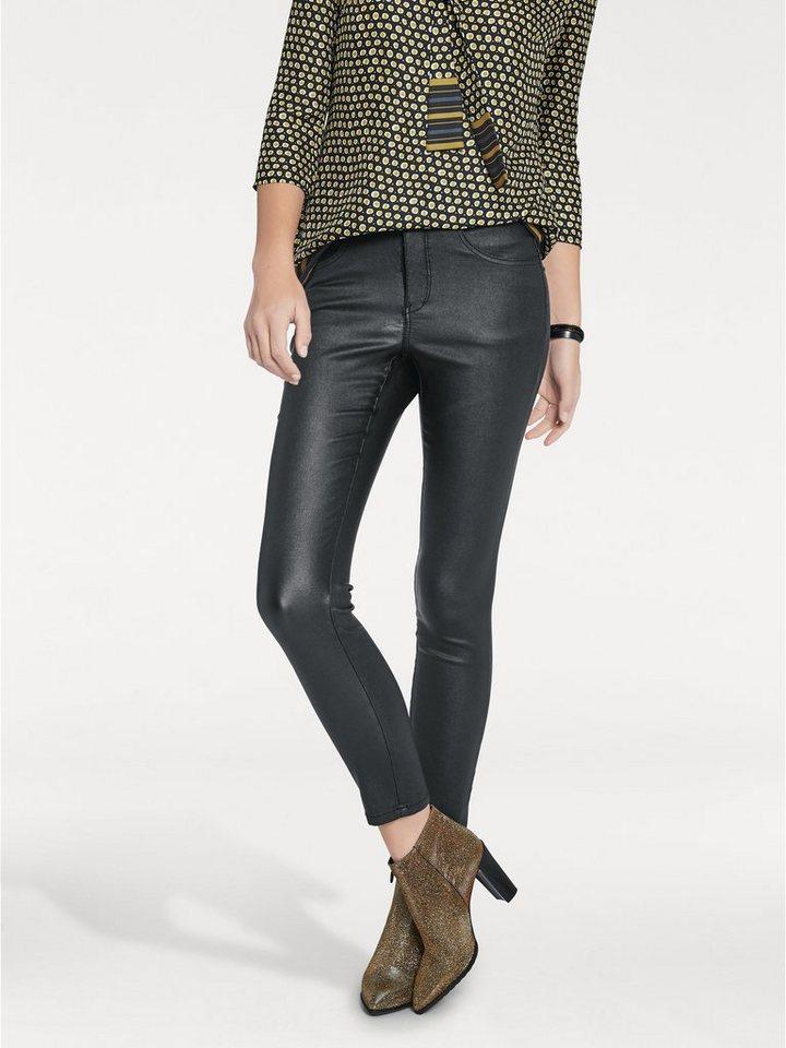 ASHLEY BROOKE by Heine Bodyform-Stretchhose High-Stretch in Lederoptik in schwarz