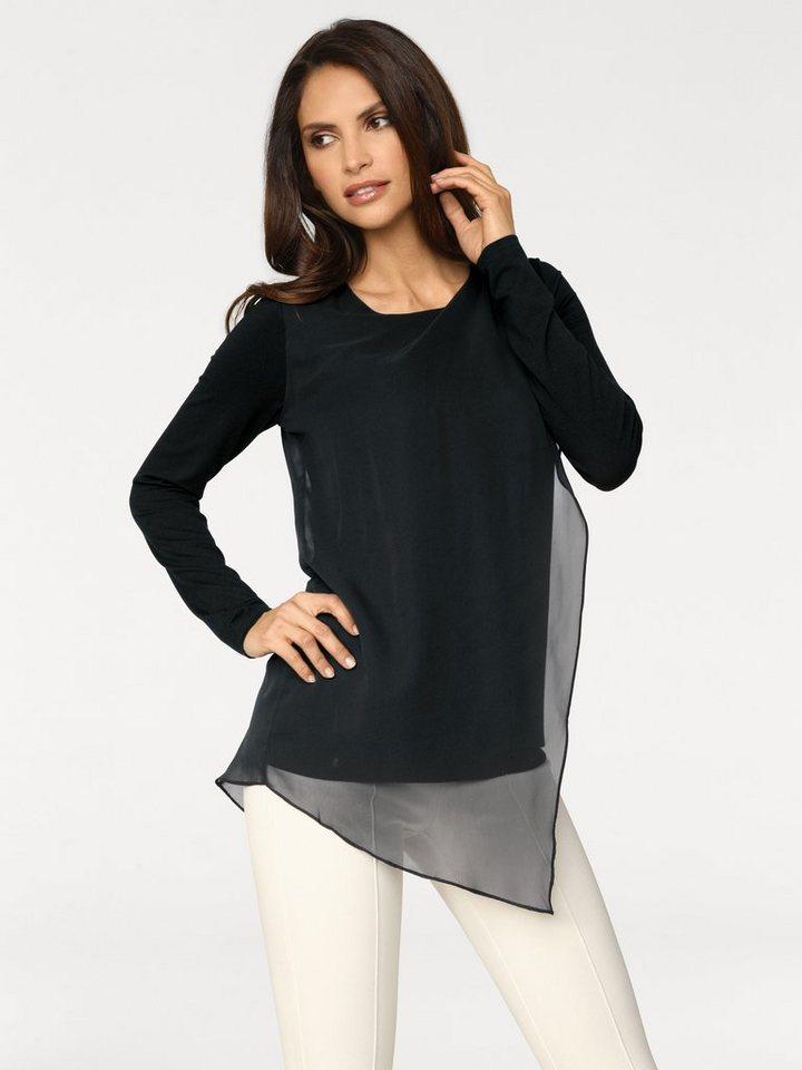 Shirtbluse in schwarz