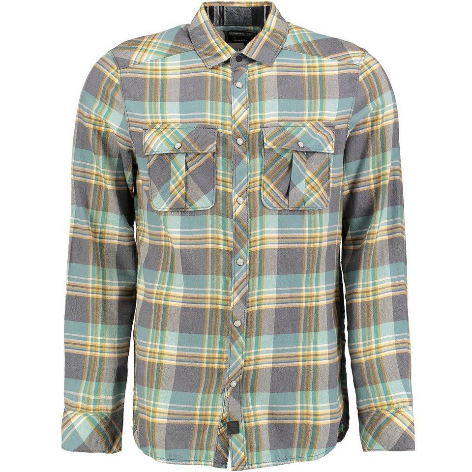 O'Neill Hemd langärmlig »Violator Flannel« in Grün gemustert