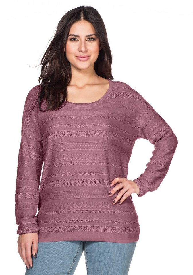 sheego Trend Pullover in malve
