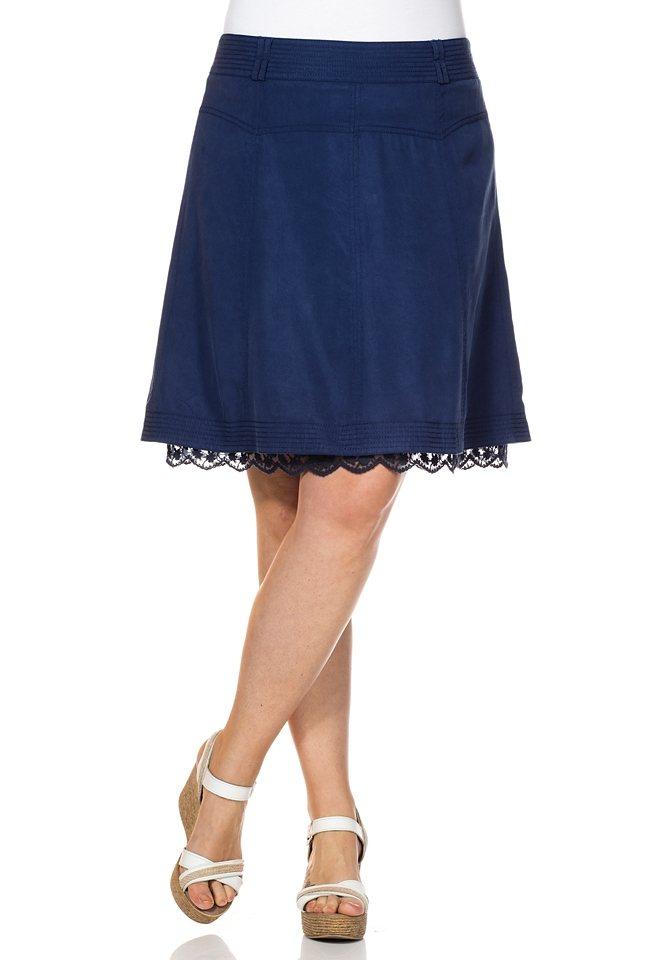 sheego Style Bahnenrock in nachtblau