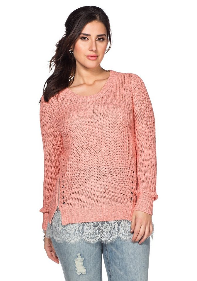 sheego Trend Pullover in hellrosa