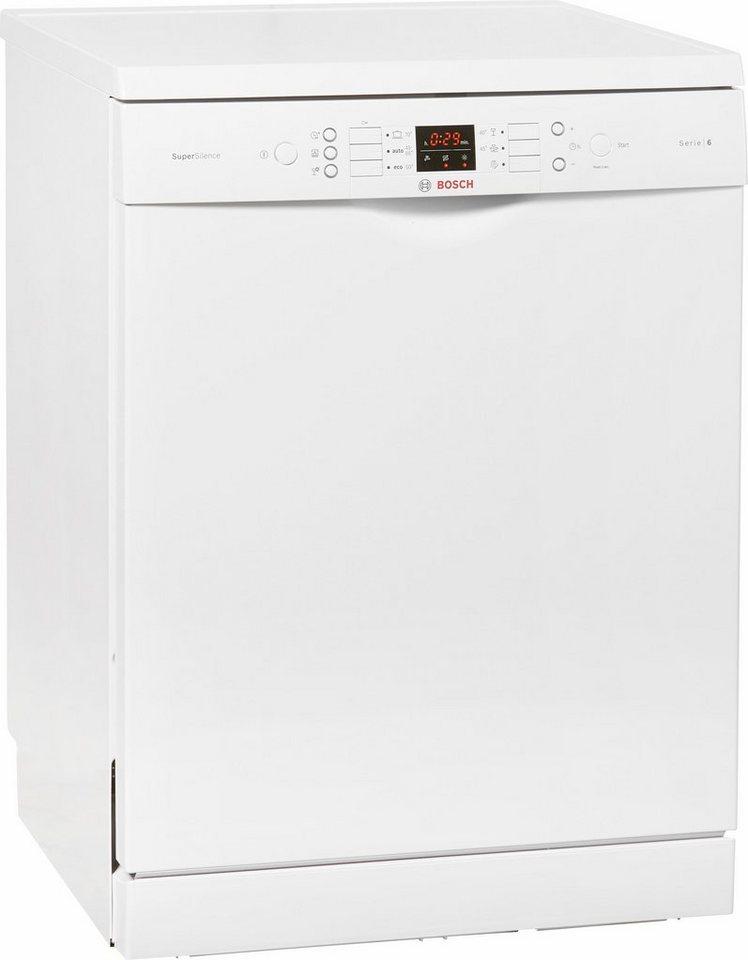 Bosch Standspüler SMS68N62EU, A+++, 9,5 Liter, 14 Maßgedecke in weiß