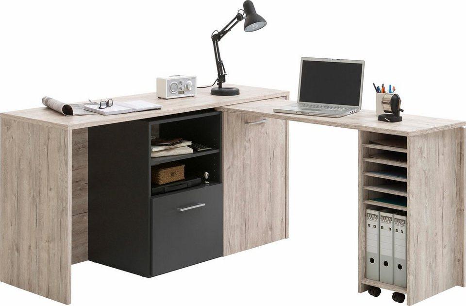 FMD Schreibtisch »Liam« in sandeichefb./anthrazit