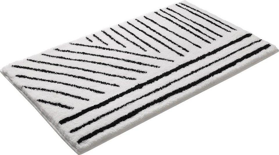 Badematte, Esprit, »Funky«, Höhe 20 mm, rutschhemmender Rücken in schwarz