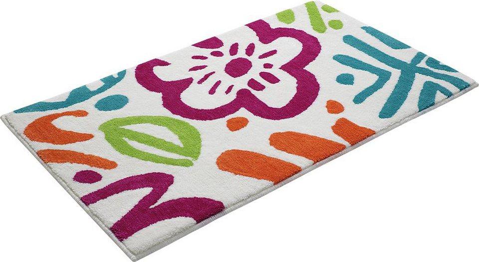 Badematte, Esprit, »Cool Flower Multi«, Höhe 10 mm, rutschhemmender Rücken in multi