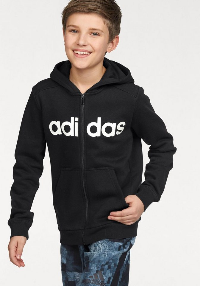 adidas Performance Kapuzensweatjacke »ESSENTIALS LINEAR FULL ZIP HOODIE« in schwarz
