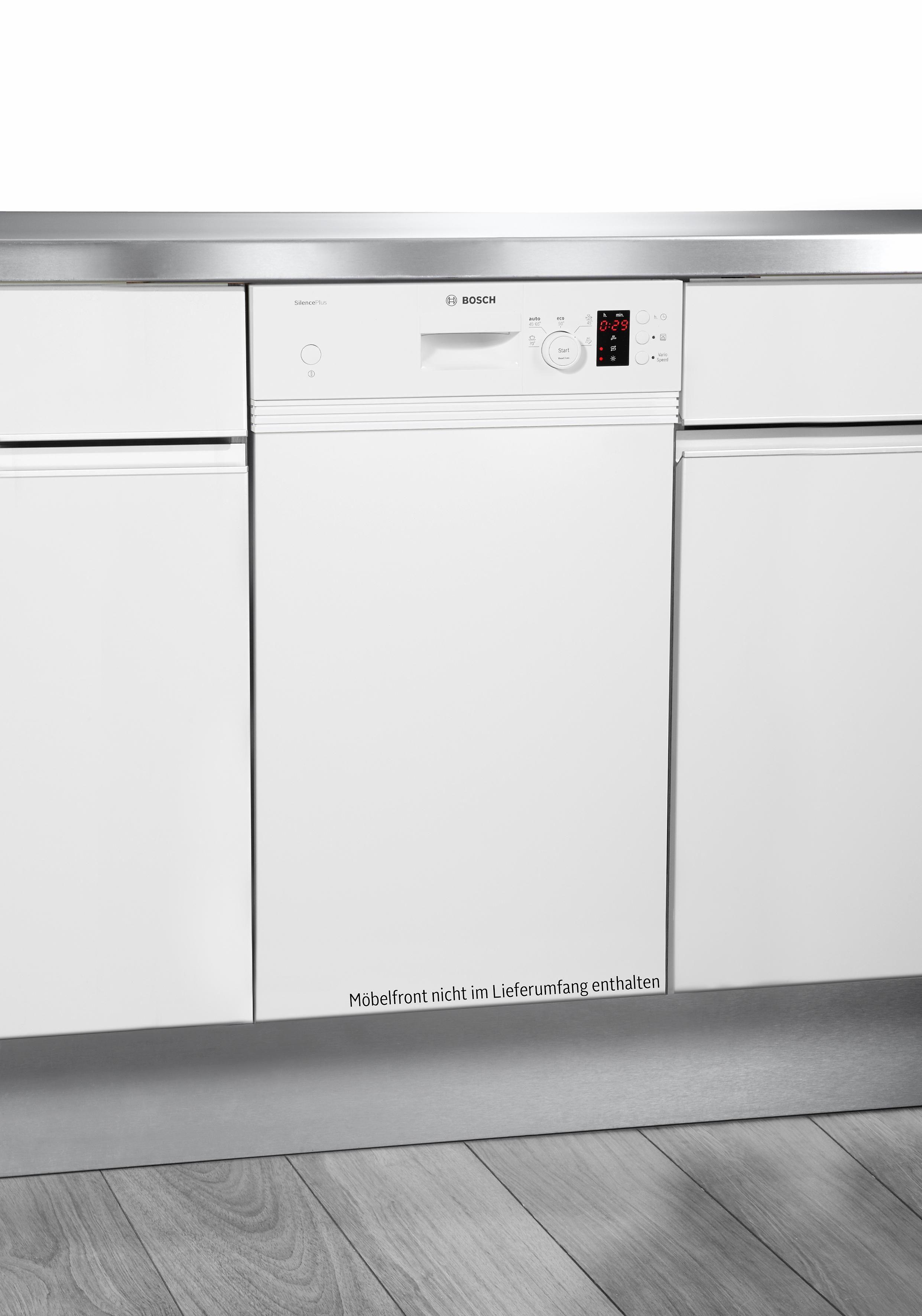 BOSCH Teilintegrierbarer Geschirrspüler Serie 4 SPI50E92EU weiß, A+, 9,5 Liter, 9 Maßgedecke