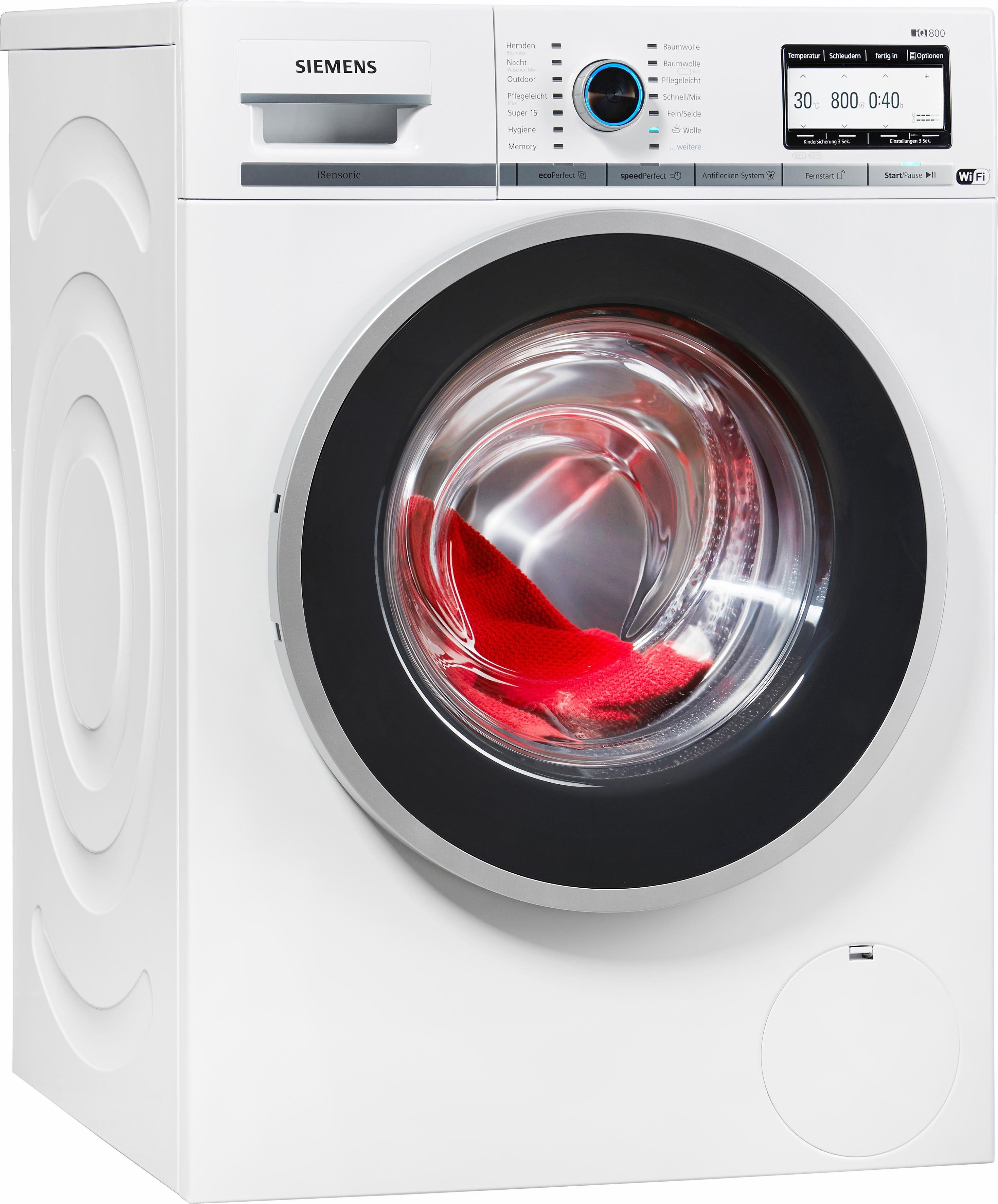 SIEMENS Waschmaschine WM6YH740, A+++, 8 kg, 1600 U/Min