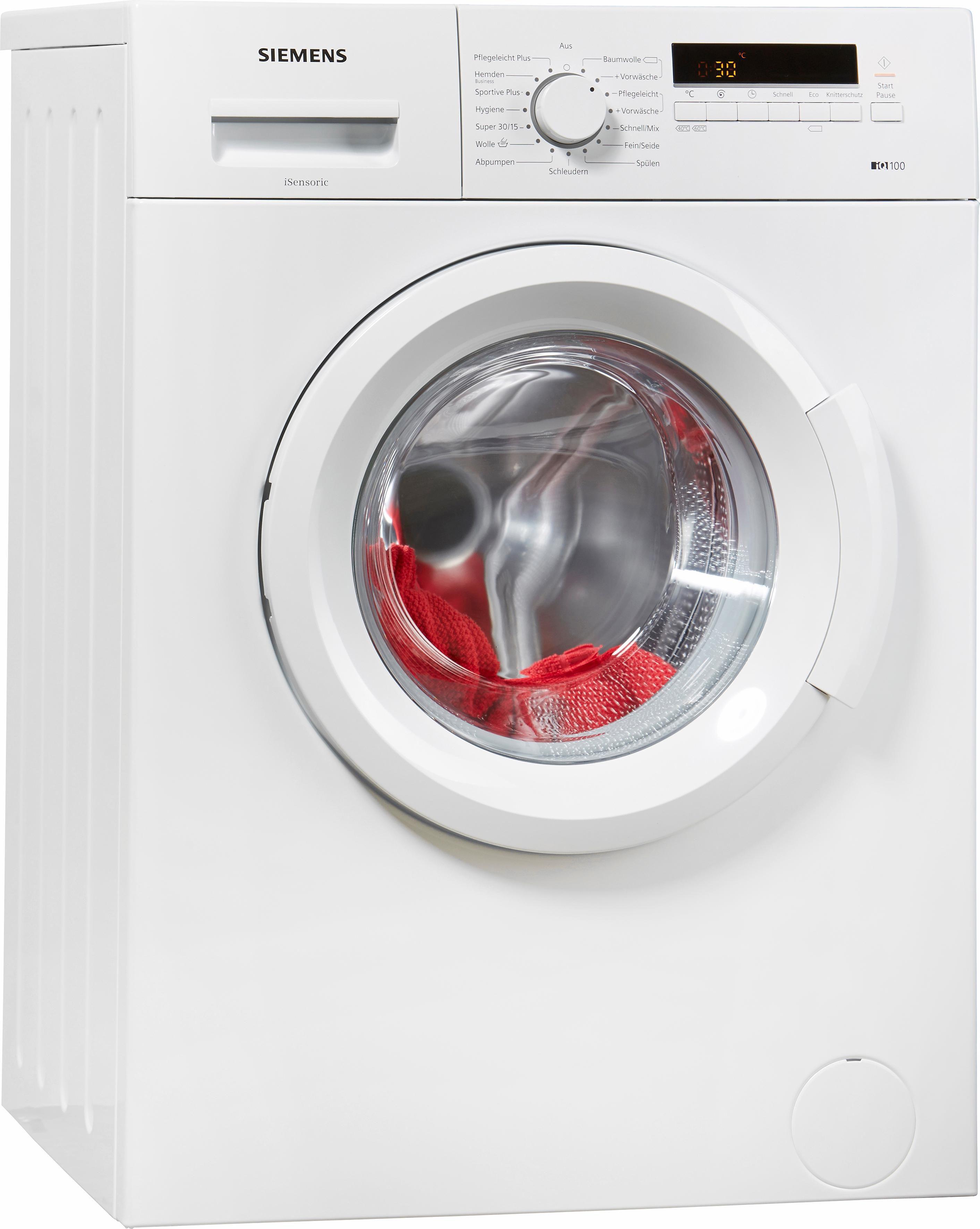 SIEMENS Waschmaschine iQ100 WM14B222, A+++, 6 kg, 1400 U/Min