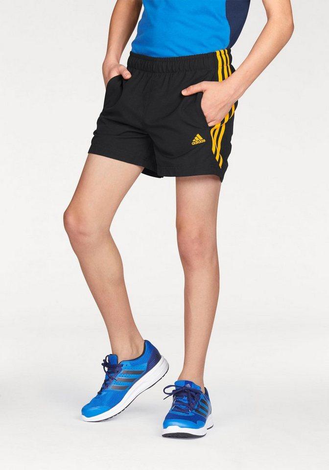 adidas Performance Shorts »ESSENTIALS 3 STRIPES CHELSEA SHORT« in schwarz-orange