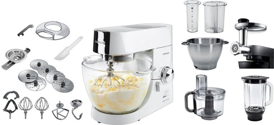 Kenwood Küchenmaschine »Chef Titanium KMC014« Lafer-Edition mit Sonderzubehör im Wert 174,97€ in Hochglanz-Weiß