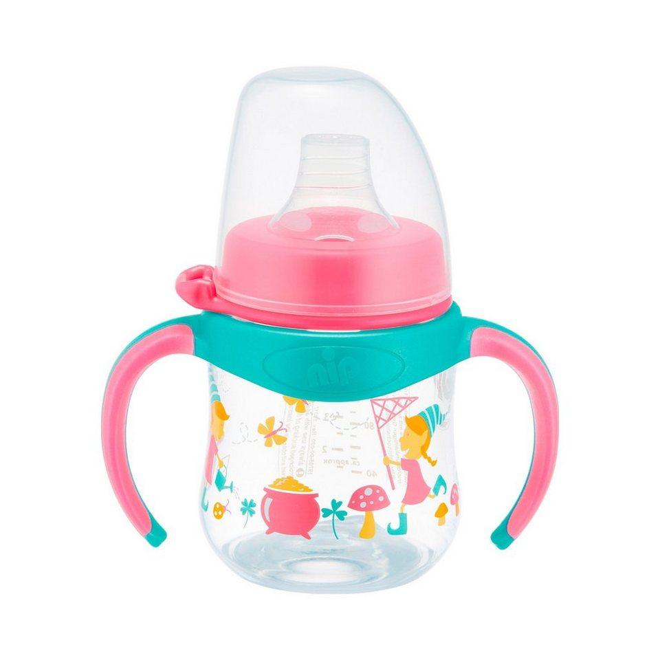 NIP Weithalstrinklernflasche Kobold in rosa