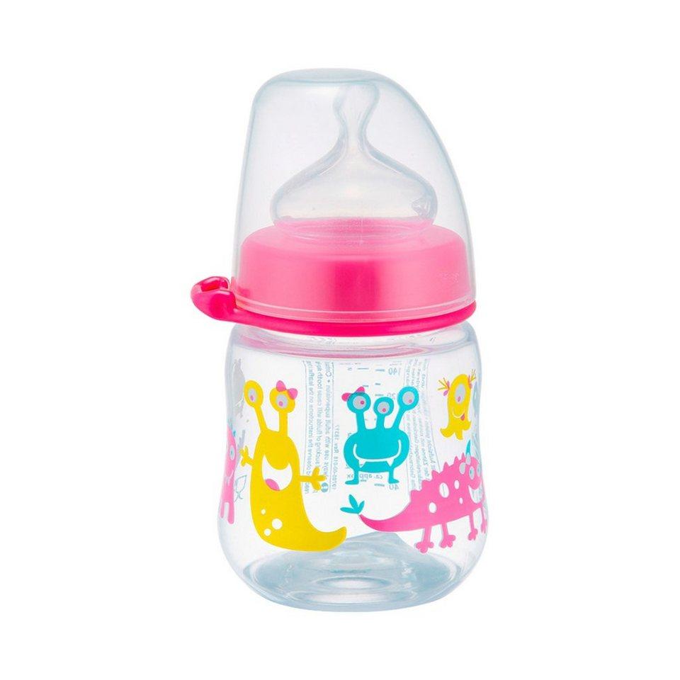 NIP Weithalsflasche Monster in rosa