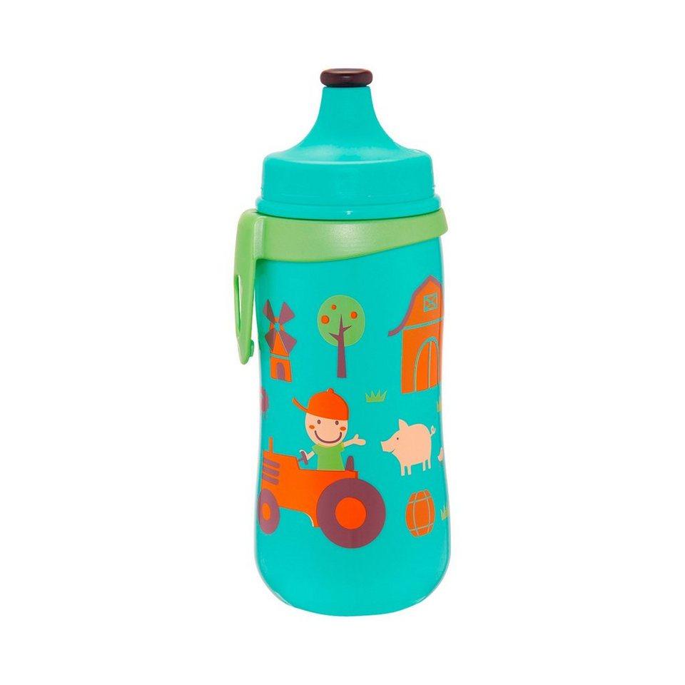 NIP Trinkflasche Kids Cup Bauernhof in türkis