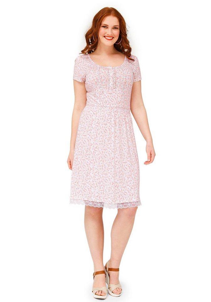 sheego Trend Jerseykleid in weiß bedruckt