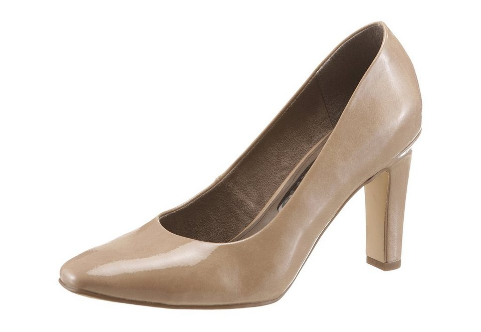 Tamaris Pumps in schmaler Form in nude