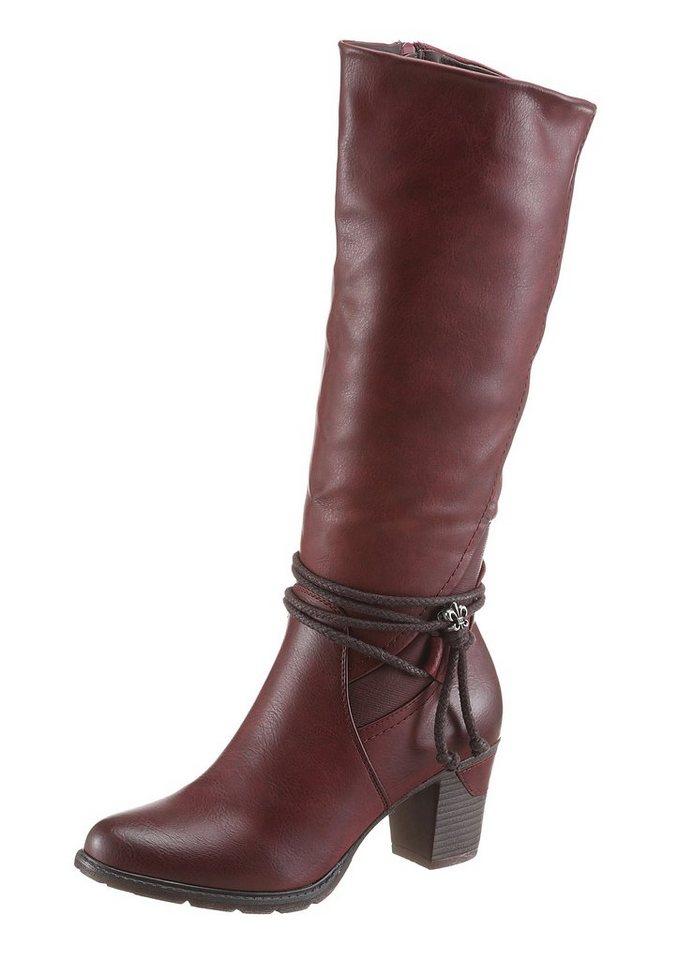 Rieker Stiefel mit regulierbarer Weite von normal bis XL in bordeaux