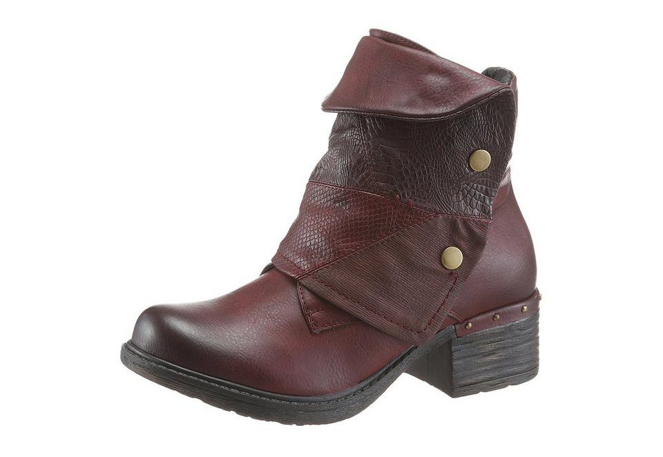 Rieker Stiefelette in bordeaux