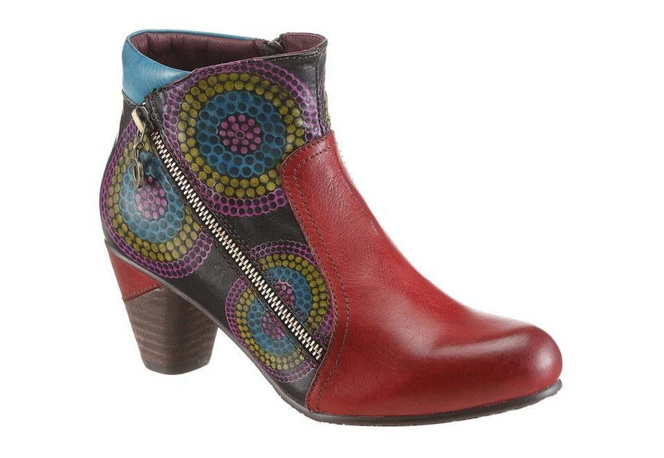 LAURA VITA Stiefelette in rot-multi
