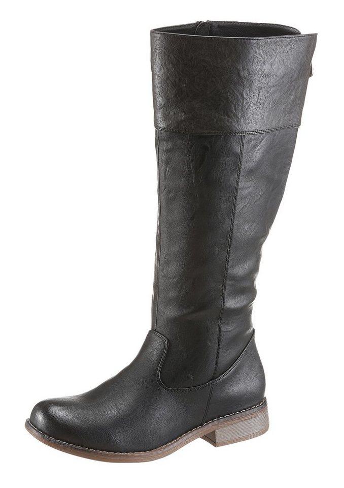 Rieker Stiefel in schwarz-grau