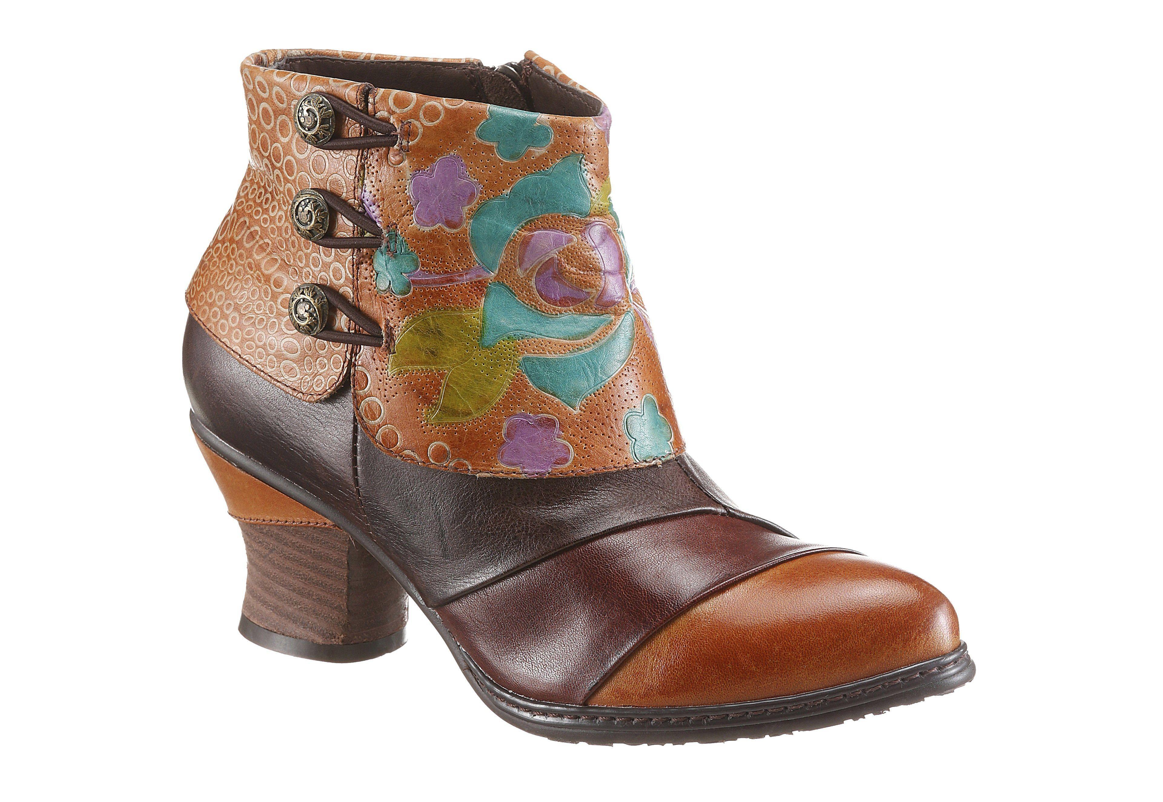 Stiefelette, im farbenfrohen Design, braun, EURO-Größen, braun-multi Laura Vita