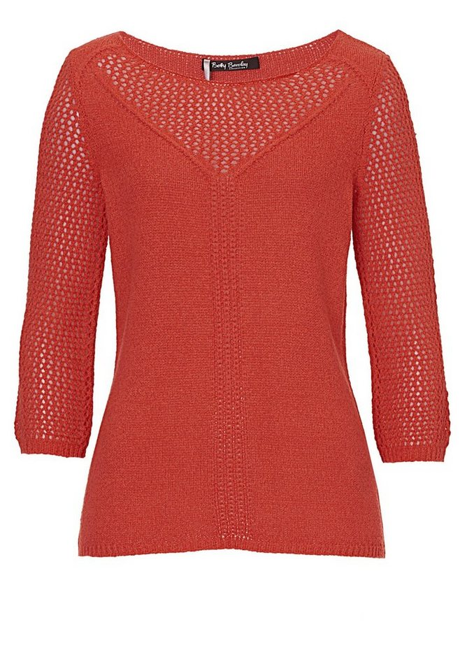 Betty Barclay Strickpullover in Dark Orange - Rot