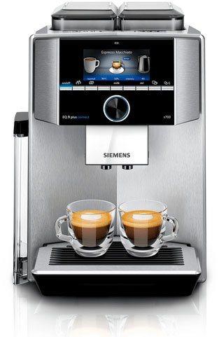 SIEMENS Kaffeevollautomat EQ.9 plus connect s700 TI9578X1DE, 2 separate Bohnenbehälter und Mahlwerke, extra leise, automatische Reinigung, bis zu 10 individuelle Profile