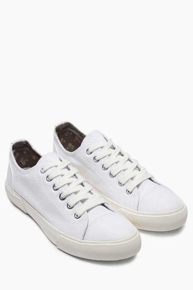 Next Baseball-Sneaker aus Canvas in Weiß