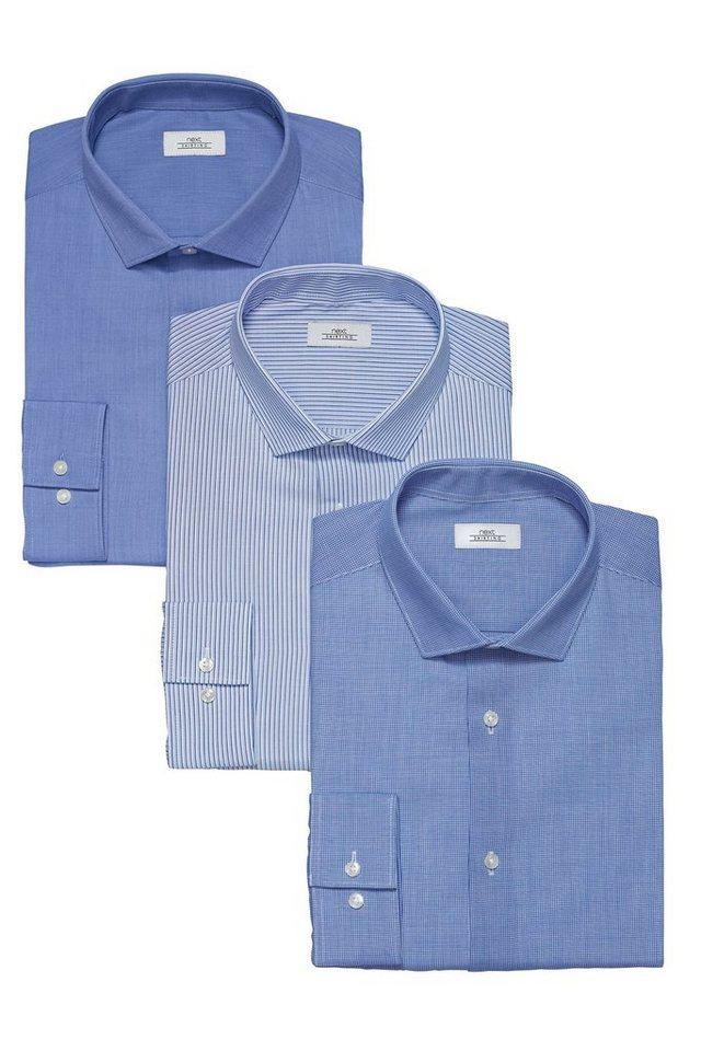 Next Hemden, 3er-Pack 3 teilig in Blau