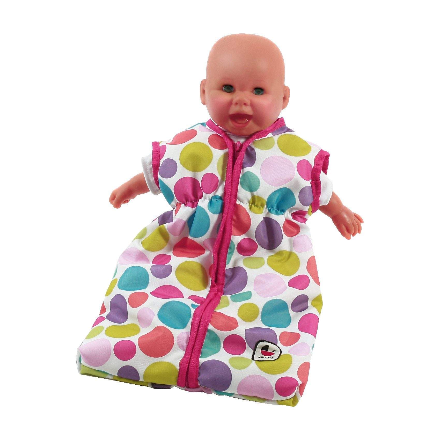 CHIC 2000 Puppen-Schlafsack, Pinky Bubbles
