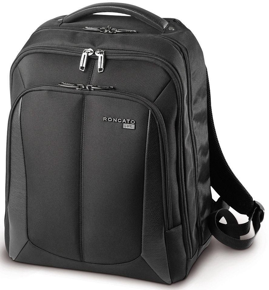 CIAK Roncato Business Rucksack mit 15,4 Zoll Laptopfach, »B-Smart« in schwarz