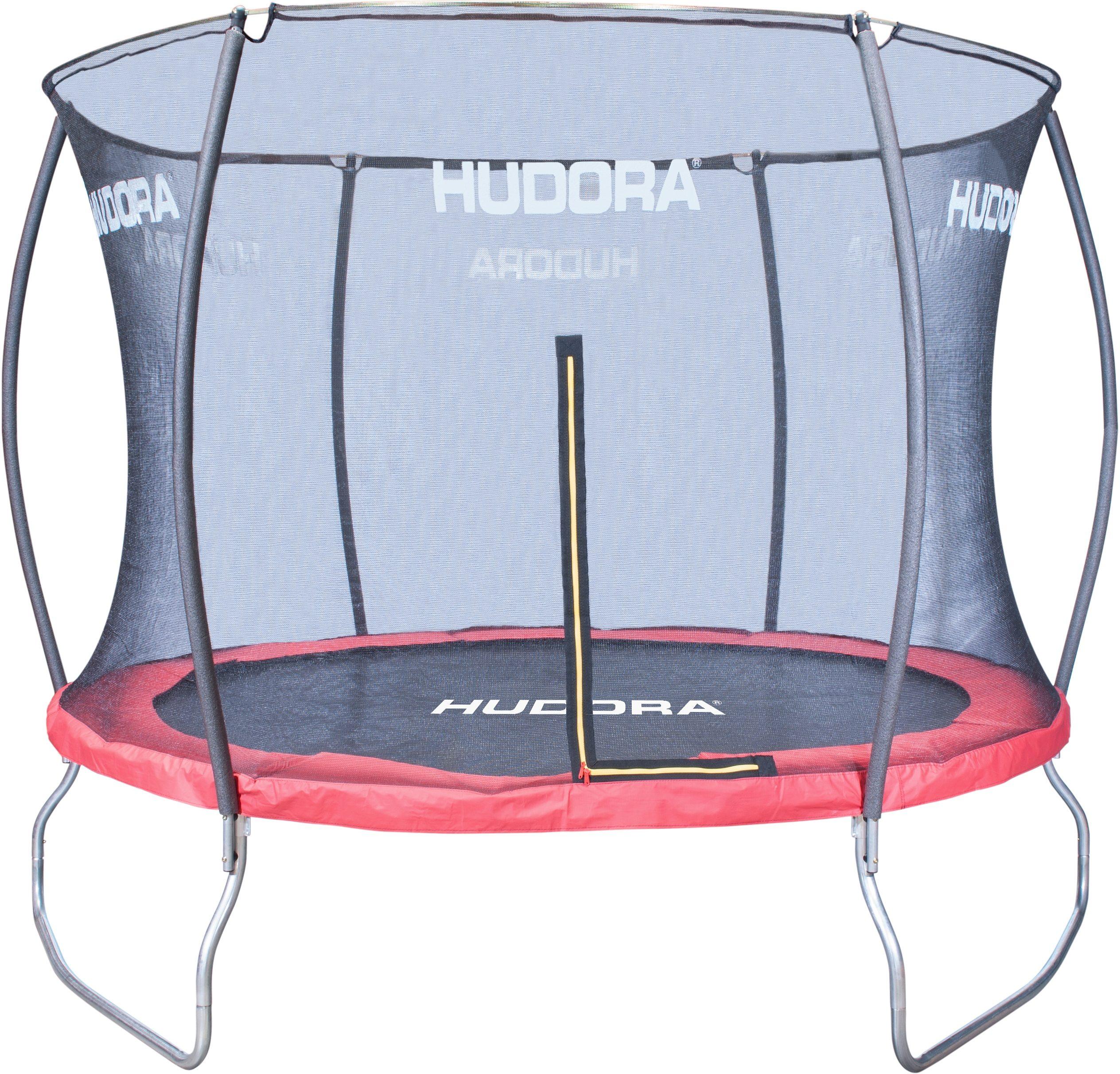 HUDORA Trampolin mit Sicherheitsnetz 305 cm Ø belastbar bis 150 kg 3 Füße