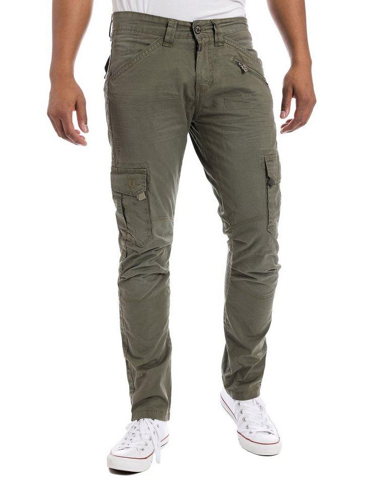 TIMEZONE Hosen lang »BenTZ cargo pants« in dusty olive