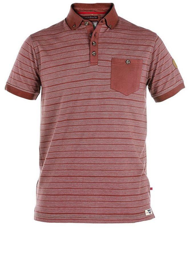 D555 Poloshirt in Rot