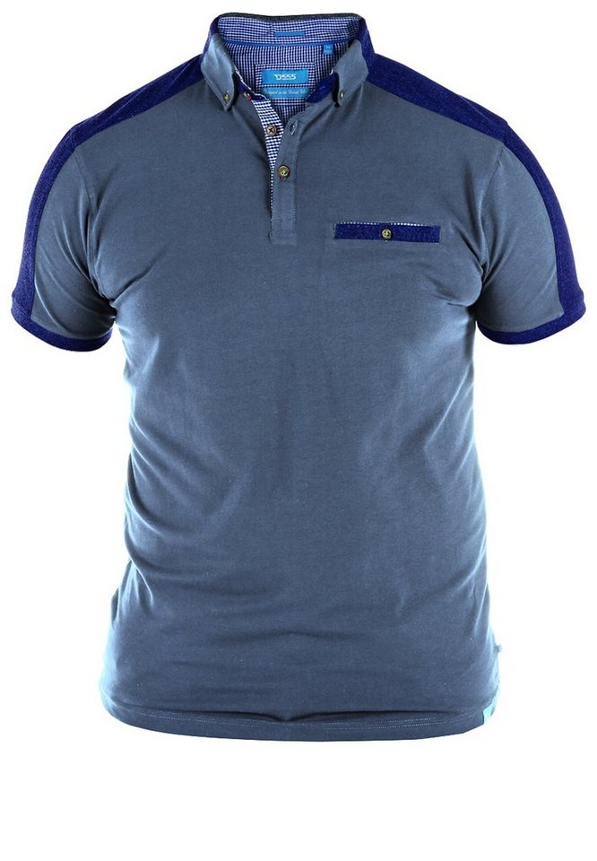 D555 Poloshirt in Denim Blue