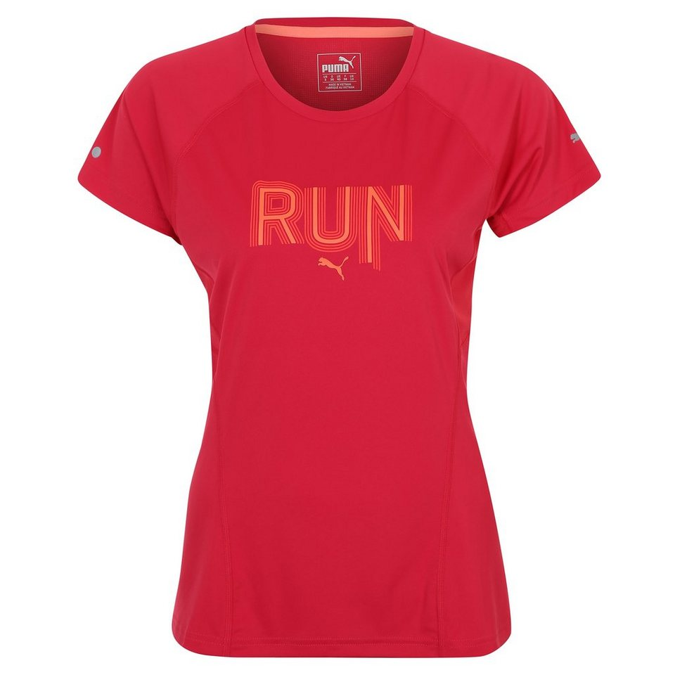 PUMA Run Laufshirt Damen in pink / orange