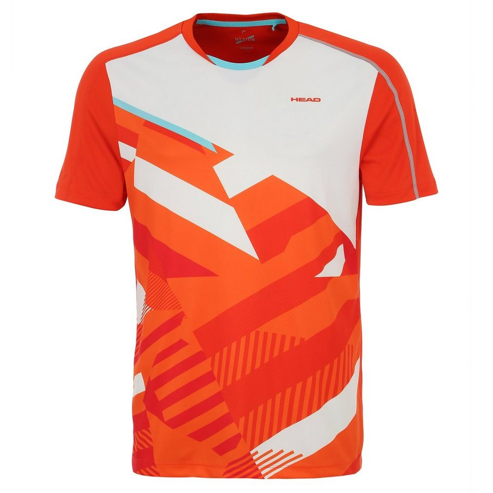 HEAD Vision M Cay Tennisshirt Herren in orange / rot / weiß